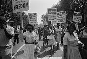 Activists Photo Framed Prints - March On Washington. African Americans Framed Print by Everett