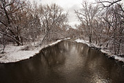 Wauwatosa Framed Prints - March River Framed Print by CJ Schmit