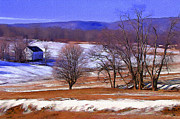 Rural Scenes Digital Art - March Thaw by Ron Jones