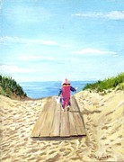 Jack Skinner Paintings - March to the Beach by Jack Skinner