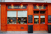 Paris Digital Art Posters - Marchands de Vins Poster by John Galbo