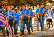 Marching Band Photo Prints - Marching Band - Junior Marching Band  Print by Mike Savad