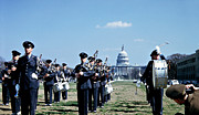 Marching Band Photo Prints - Marching Band at Capitol Print by Marilyn Hunt