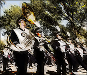 Uc Davis Photo Framed Prints - Marching Band Framed Print by Charles McDonald