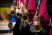 Marching Band Photo Posters - Marching Band Saxophones  Poster by James Bo Insogna