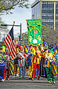 Kathleen K Parker Metal Prints - Marching Corner Club 2 - Mardi Gras New Orleans Metal Print by Kathleen K Parker