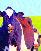Wings Domain Art - Marching Cow . Photoart by Wingsdomain Art and Photography