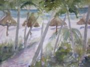 Gulf Of Mexico Painting Originals - Marco Island Beach Path by Sandra Strohschein