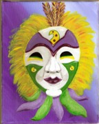 Mardi Gras Paintings - Mardi Gras 2 by Nancy Wood