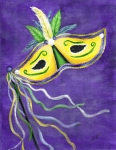 Mardi Gras Paintings - Mardi Gras 3 by Nancy Wood
