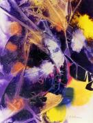 Mardi Gras Paintings - MARDI GRAS acrylic abstract painting by Phil Albone