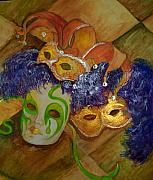 Mardi Gras Paintings - Mardi Gras Fun by Lynda McDonald