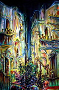 City Scape Painting Prints - Mardi Gras Print by Heather Calderon