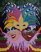 Mardi Gras Paintings - Mardi Gras in Colour by Angelo Thomas