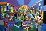 Cubism Posters - Mardi Gras lets get the party started Poster by Anthony Falbo