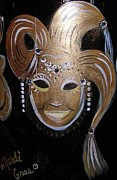 Mardi Gras Paintings - Mardi Gras Mask by Vera Lowdermilk