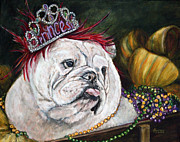 Mardi Gras Paintings - Mardi Gras Queen by Helga Gravitt