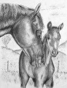 Mare Drawings - Mare and Foul by Russ  Smith