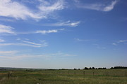 Prairies Prints - Mares Tails over the Prairies Print by Jim Sauchyn