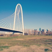 Texas Cities Framed Prints - Margaret Hunt Hill Bridge Framed Print by David Kozlowski