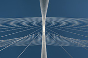 Wire Metal Prints - Margaret Hunt Hill Bridge Metal Print by Todd Landry Photography