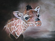 Giraffe Pastels - Margaret by Sandy Slichter