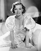 Puffy Sleeves Framed Prints - Margaret Sullavan, 1935 Framed Print by Everett