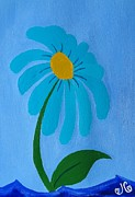 Margarita Paintings - Margarita flower by Jessica Cruz