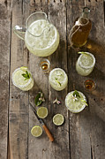 Shot Glass Prints - Margaritas Print by Lew Robertson