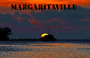 Tropical Sunset Digital Art Prints - Margaritaville Print by David Lee Thompson