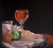 Wine Glass Pastels - Margaritaville by Deborah Colony