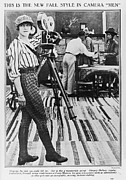 1910s Candid Framed Prints - Margery Ordway, Woman Cinematographer Framed Print by Everett