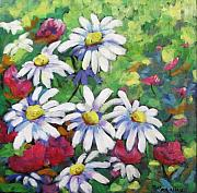 Pranke Paintings - Marguerites 001 by Richard T Pranke