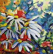 Fragrant Painting Framed Prints - Marguerites Framed Print by Richard T Pranke