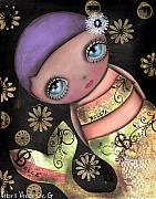Big Eyes Art - Maria by  Abril Andrade Griffith