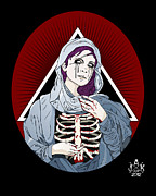 Virgin Mary Prints - Maria de la muerta Print by Josh Katz