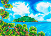 Caribbean Art Tapestries - Textiles Originals - Maria ISLAND - SAINT LUCIA by Daniel Jean-baptiste