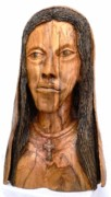 Olive Wood Sculpture - Maria our Lady by Eric Kempson