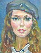 Maria Svyatskaya Print by Leonid Petrushin