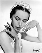 1950s Portraits Metal Prints - Maria Tallchief, Ballerina Metal Print by Everett