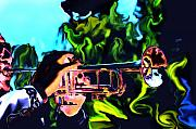 Trumpet Digital Art - Mariachi Brass by Lyle  Huisken