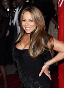 Straight Hair Prints - Mariah Carey At Arrivals For 21st Print by Everett