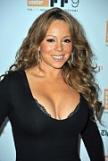 Mariah Carey Prints - Mariah Carey At Arrivals For New York Print by Everett