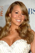 Lip Gloss Prints - Mariah Carey In The Press Room Print by Everett