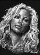 Michael Mixed Media Framed Prints - Mariah Carey Framed Print by Michael Trujillo