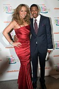 2009 Prints - Mariah Carey, Nick Cannon At A Public Print by Everett