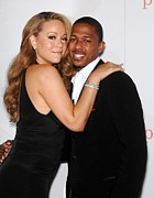Mariah Carey Prints - Mariah Carey, Nick Cannon At Arrivals Print by Everett