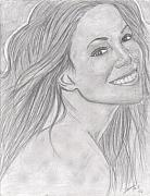 Mariah Carey Drawings - Mariah Carey by Tavian Ford