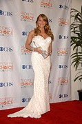 Mariah Carey Posters - Mariah Carey Wearing A Ysa Makino Gown Poster by Everett