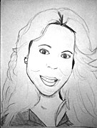 Mariah Carey Drawings - Mariah Carey by Whitney F